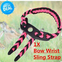 1X Archery Bow Wrist Sling Strap for Compound Bow Hunting Nylon Cord Rope HC