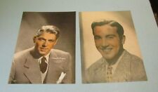 1940's Screen Art Studios Movie Star 5x7 Photo Set #12 Ronald Reagan Nan Grey
