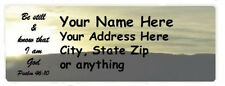 "Bible Verse 150pcs Personalized Return/Mailing Address labels 1"" x 2.625"""