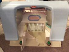 Vintage Fisher Price Little Tikes Dollhouse Large Blue Roof Play Pretend Girls