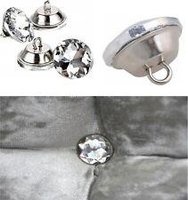 20/25/30 mm Diamante Crystal Glass Button Upholstery Headboard Chair Sofa Decor