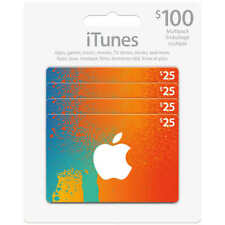 iTunes Gift Cards $100 - (4/$25 cards) - No Email