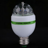 3W E27/B22 RGB Rotating LED Bulb 3W Party Light Crystal Ball Disco Laser Lamp C