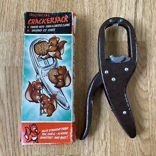 More details for vintage crackerjack nut ice crab & lobster cracker original box bronze finish