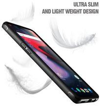 OnePlus 6 Case Poetic [Karbon Shield Series] TPU Bumper Shockproof Cover Black