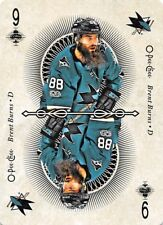 18/19 O-PEE-CHEE OPC PLAYING CARD NINE 9 OF CLUBS BRENT BURNS SHARKS *55400