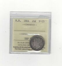 **1864**, ICCS Graded, New Brunswick Twenty Cent, **F-15**