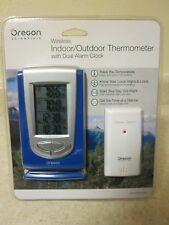 Oregon Scientific Wireless Indoor Outdoor Thermometer with Dual Alarm Clock NEW