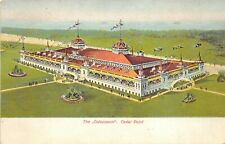 Cedar Point Sandusky Ohio c1906 Postcard The Colosseum Amusement Park