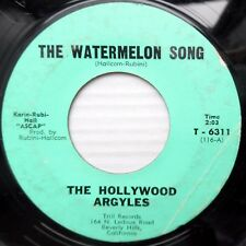 HOLLYWOOD ARGYLES rare vg condition 45 WATERMELON SONG b/w SHORT FAT OUTLAW D105