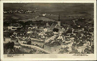 Tabor Tschechien alte s/w AK 1930 Pohledy slétadla Gesamtansicht mit Umgebung