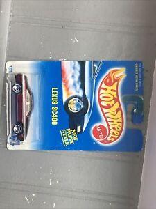 1991 Vintage Hot Wheels Blue Card #264 LEXUS SC400 Burgundy w/Chrome UH Spokes