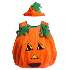 Children Orange Fun World Pumpkin Cutie Pie Halloween Party Costume Set