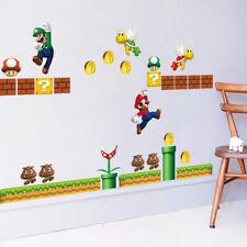 SUPER MARIO Bros Wall Sticker Children Game Boys Playroom Kidsroom Home Decor