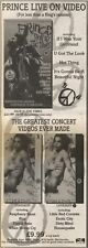 23/6/90Pgn18 Advert: Get Prince 'sign Of The Times' Live On Video Now 15x5