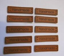 SET á 20 Stück Aufnäher Handmade Patch Handarbeit 43 x 11 mm