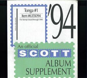 1994-2001 Tonga SCOTT Francobollo Album Integratore Pagine