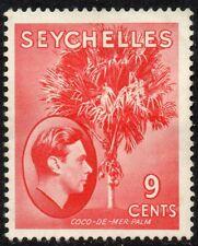 1938 Seychelles Sg 138 9c scarlet Mounted Mint