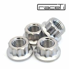 M10 x 1.25 Titanium Bi Hex Flange Nut 12 point Ti sprocket gr5 CNC Ducati 4 Pack