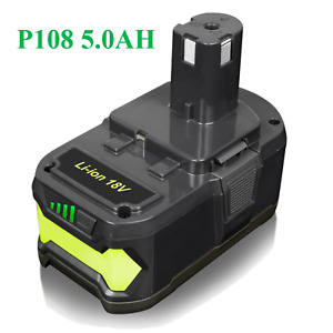 18V 5.0Ah Lithium Ion Battery for Ryobi P108 ONE+ Plus P102 P104 P105 RB18L50