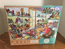 New Milton Bradley Adrian Chesterman Shoes Galore Jigsaw Puzzle 2000 Pc.