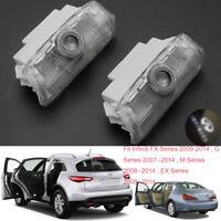 Car Door LEDs Projector Laser Light For Infiniti EX FX G M Series Q50 Q70 QX70x2