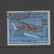 PAKISTAN 1969 50p 1ST ENGLAND AUSTRALIA FLIGHT Nice Used