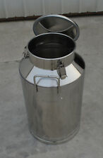 158gallon Stainless Steel Milk Pail Farm Water Milk Wine Bucket Lid Storage New