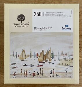 """*NEW & SEALED* WENTWORTH """"LS Lowry: Yachts, 1959"""" 250 piece Wooden JIGSAW PUZZLE"""
