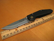 GT Knives ATS-34 Drop Pt. Black T6 Tactical EDC Folder Knife USA pre Axis LNWOB!