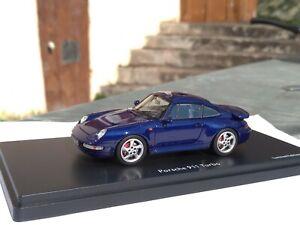 Porsche 911 993 Turbo Schuco Pro R ProR43 ProR 1/43 résine bleu no Spark 750ex.