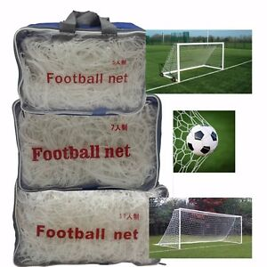 Football Nets Full Size Adult Outside Game 5 a-side 7 11 Goal Netting Club