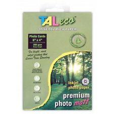 TALeco 4 x 6 Treeless Photo Paper - MATT- 280GSM - Pack Of 50 Sheets - NEW
