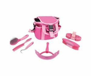 Perry Equestrian 6 Piece Horse Pony Grooming Kit 3 colours