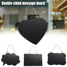 Chalkboard Sign Double-Sided Message Board with Hanging String 2020 G3D6