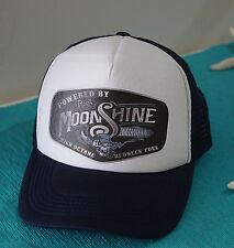 POWERED BY MOONSHINE REDNECK FUEL TRUCKER CAP HAT MESH SNAPBACK HOT ROD RAT ROD