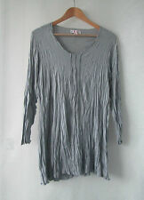 Clarity sz M 12 14 Grey Stretch Long Top