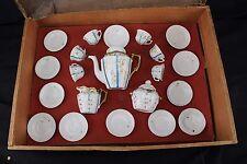 Antique Childs Size German Tea Set Porcelain Childs Dishes