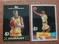 2007-08 Topps Kevin Durant Black Border RC/ 57-58 Variation # 112 .2 Card Lot