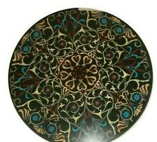 "36"" Marble Coffee Table top Pietra Dura Handicraft Work home furniture"