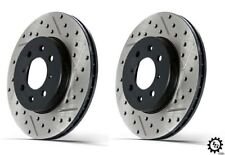 Stoptech Front Slotted Drilled Rotors Akebono for 03-18 Infiniti G37 Nissan 370Z