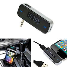 Car Wireless LCD 3.5mm FM MP3 Transmitter Hands Free For iPhone 5s 6 6s iPod