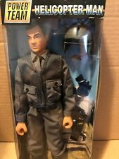 Vintage Power Team Helicopter Man Action Figure Doll M&C toy centre NIP