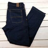prAna Breathe Jeans Mens 35x32 Dark Wash Mid Rise Straight Leg J2014