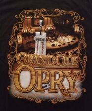 Official Grand Ole Opry Members List T-Shirt Mens Medium M Black Double-sided