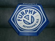 NEW FURPHY REFRESHING ALE HEXAGON BAR TRAY SERVING TRAY RUBBERISED SURFACE