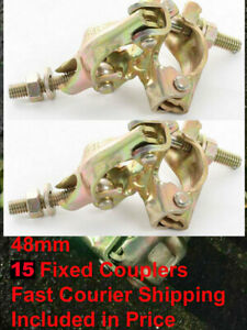 15 x FCO Scaffolding Scaffold Fittings FIXED DOUBLE Couplers Clamps FAST POST