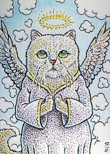 ACEO  Fantasy Original Angel (cat)
