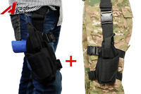 Tactical Pistol Gun Oberschenkel Holster Pouch Bag Rechts und Link Lot