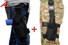 Universal Tactical Pistol Gun Drop Leg Thigh Holster Pouch Bag Right+ Left Hand